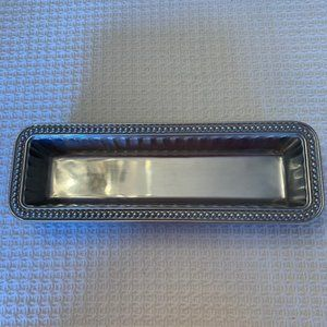 Wilton Armetale Flutes & Pearls Cracker Tray~NIB